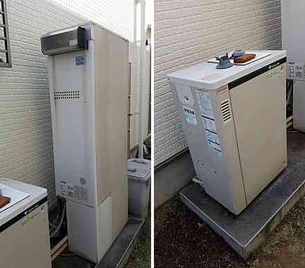 神戸市北区K様邸 エコウィルからエコジョーズガス給湯器設置取替工事